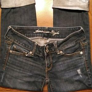 American Eagle Jean capris size 2